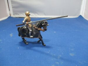 Gold Knight with Lance Timpo Medieval range lead figure
