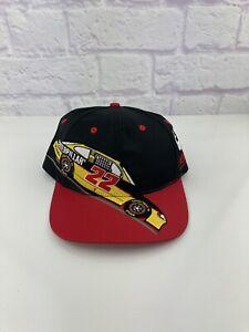 Vintage 90s Nascar Hat Baseball Cap CAT Racing #22 Car Race Flag Ward Burton