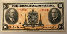 1935 Royal Bank of Canada $10 Chartered Banknote - Great Orange Colour