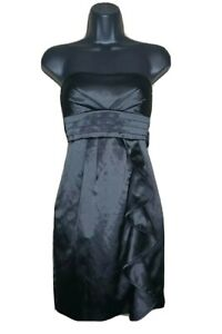 My Michelle Black Formal Prom Dress Juniors Womens Size 1 Strapless Short Sexy
