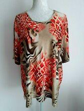 Haut Coloré Beige Rouge Orange Marron Beige Blanc 54 Très Bon Etat Femme