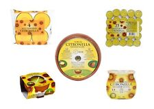 Set of 5 Citronella Candles Complete Garden Party Barbecue Pack
