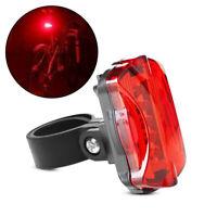 5 LED MTB Bike Bicycle Rear Tail Light Flashing Safety Warning RED Lamp Night
