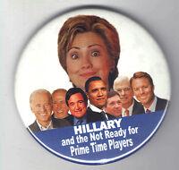 2008 pin HILLARY Clinton OBAMA John EDWARDS Biden DEMOCRATIC Primary pinback