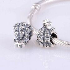 CHRISTMAS TREE of LIGHTS w Star   .925 Sterling Silver European Charm Bead