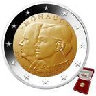 Monaco - 2 Euro 2021 - 10. Hochzeitstag - Albert II & Charlène - Bimetall PP <br/> Auflage: Weltweit nur 15.000 Exemplare !  | - im Etui