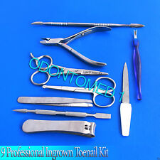 9 Professional and Home user Ingrown Toenail Kit Hand Tools Set BTS-80