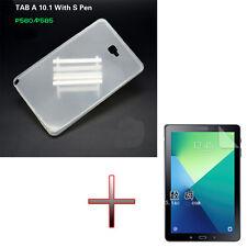 """TPU Gel Rubber Soft Skin Case Cover +Film F 10.1"""" Samsung Galaxy Tab A P580 P585"""