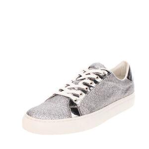 CAFENOIR Glitter Sneakers Size 43 UK 9 US 10 Metallic Effect Trim Padded Topline