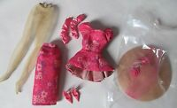 FASHION MODEL SILKSTONE FASHIONABLY FLORAL BARBIE OUTFIT AND ACCESSORIES ONLY