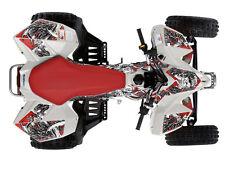 Suzuki ltz 400 Quad ATV Gráfico Kit Calcomanía Oeste Coast Demon Rojo Nuevo (sin su suerte)