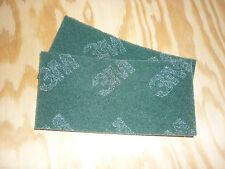 2St. Schleifvlies  3M Handpad Polieren Schleifen Edelstahl  Metall Holz  grün