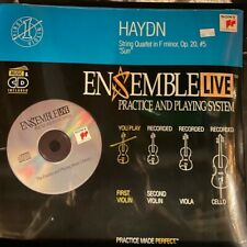 "Violin: Ensemble Live String Quartet  Haydn Op. 20, #5 ""Sun"" Cd with Sheet Music"