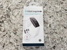 Fitbit Inspire HR Heart Rate & Fitness Tracker One Size FB413BKWT Tested MINT!