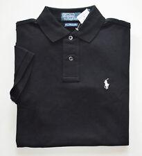 NWT Men's Ralph Lauren Short-Sleeve Polo Shirt, Custom Fit, Black, XXL, 2XL