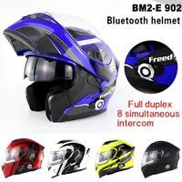 DOT Bluetooth Intercom Integrated Helmets Full Face Motorcycle Modular Helmet