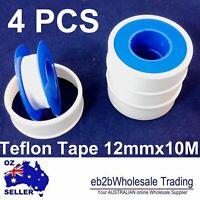 4Pcs Teflon Tape 12mmx10M white thread PTFE plumbing tape plumbers sealing water