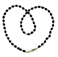 Black Silver Crystal Bead Necklace Plastic Chain Jewellery Plastic Beaded Chain