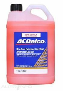Genuine Holden ACDelco DEX-COOL Extended Life Coolant (Red) 5Lt - 19375293