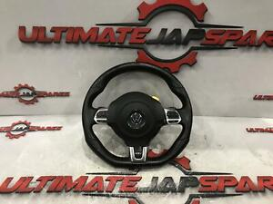 VOLKSWAGEN POLO STEERING WHEEL LEATHER, 6R, CIRCULAR CENTER, W/ CONTROL TYPE, GT