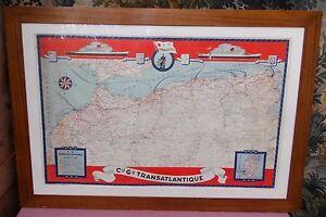 Compagnie Générale Transatlantique French Line Carte Afrique du Nord @+