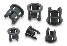 10 x 5mm Snap-In Black LED Holder Clip Bezel Mount