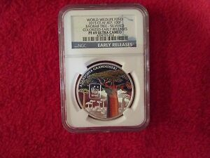 WWF Central Africa World Wildlife Baobab Tree coin NGC PF69 pcgs icg anacs afric
