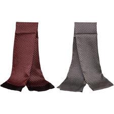 Men 100% Silk Scarf Cravat Double Layer Silky Long Neckerchief Dolphin pattern