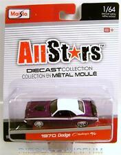 1970 '70 DODGE CHALLENGER R/T RT ALLSTARS SERIES 14 MAISTO DIECAST 2014