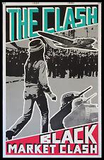 BLACK MARKET CLASH ORIGINAL VINTAGE 1980 PROMOTIONAL POSTER NEARMINT LINENBACKED