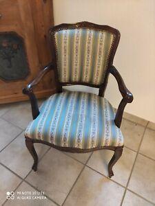 Sessel Armlehne Stuhl Chippendale Antik Polster
