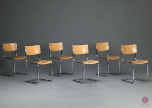 Thonet S43 Freischwinger Bauhaus Klassiker Stuhl Buche Natur Mart Stam Chair TOP