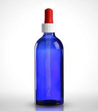 10 x Pipettenflaschen 100ml Blauglas inkl. Pipetten mit Standard-Verschluss