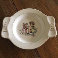 Vtg My Own Plate Holmes Edwards 88343 Homer Laughlin China Co White Ceramic