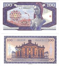 100 Francs Mark 2017 Saar France Germany UNC SPECIMEN Banknote - Brigitte Bardot