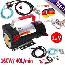 12V Elektrisch Heizölpumpe Dieselpumpe Ölabsaugpumpe 40L/min mit Zapfpistole HC3