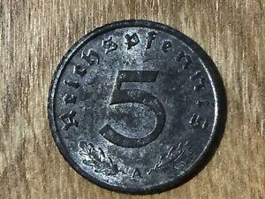 5 Reichspfennig Drittes Reich 1940 -1944 J.370