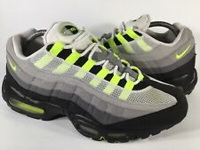 Nike Air Max 95 OG Neon Green Volt Cool Grey Black White Mens Size 9.5 Rare