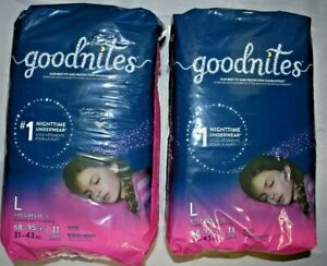 Goodnites Girls Underwear Size L fits sizes 10-12