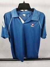 Mens WILSON Tennis Shirt Jersey Blue White Size L