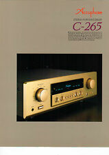 DEPLIANT Prospetto accuphase c-265 b579