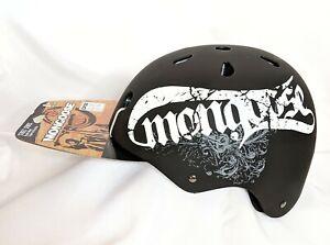 Mongoose Street Series Bike Helmet Youth Size 8+ Black With Mongoose Logo NIP