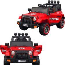 4X4 voiture quad jeep électrique enfant 2 places 12 V siège simili cuir rouge