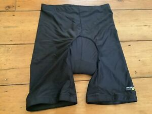 Mens Mountain Life Actuve Black Cool Max Padded Cycling Shorts Size XL