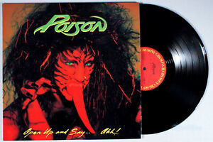 Poison - Open Up and Say Ahh (1988) Vinyl LP • Japanese IMPORT + Insert •