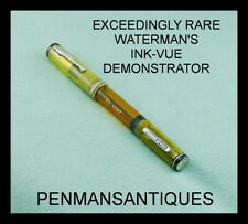 CIRCA 1935 RARE WATERMAN'S INK-VUE TRANSPARENT DEMONSTRATOR FOUNTAIN PEN