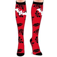 Oficial Dc Batman Arkham Caballero Knee High Rojo Y Negro Novedad calcetines-Nueva 4-7