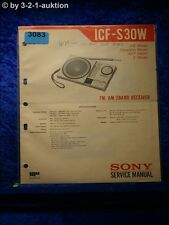 Sony Service Manual ICF S30W 2 Band Receiver (#3083)