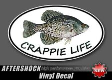 Crappie Life Fishing Lure Sticker - oval fish decal