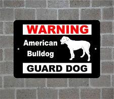 American Bulldog warning GUARD DOG breed metal aluminum sign